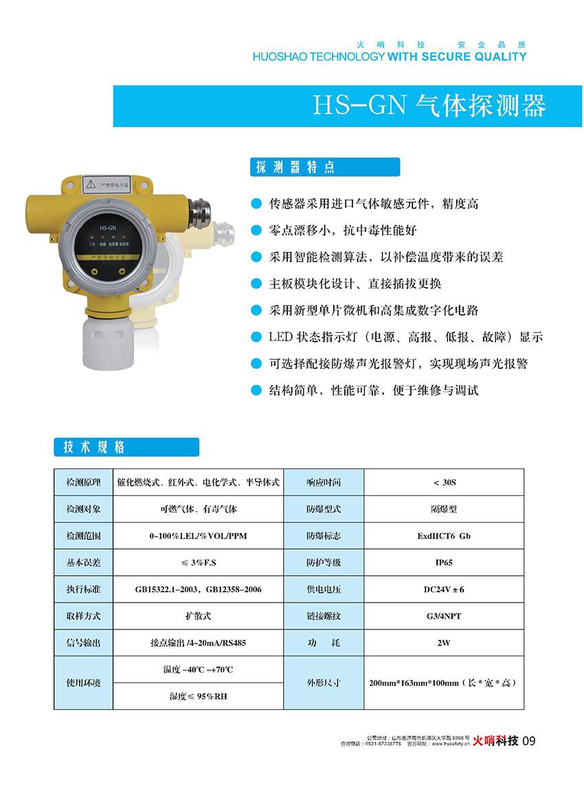 HS-GN气体探测器